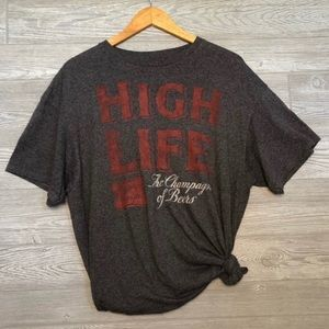 Miller High Life Beer Graphic Tee Size XL